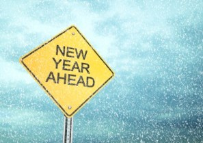 New Year Ahead , Road sign , 3d render