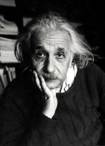 Volume 2. Page 114. Picture 6. Portrait of German born US physicist and mathematician Albert Einstein.