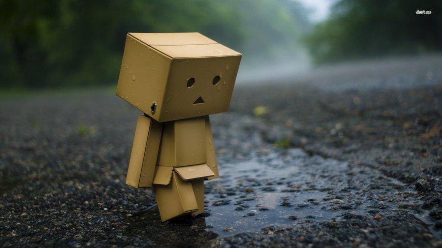 box-man-rain-water