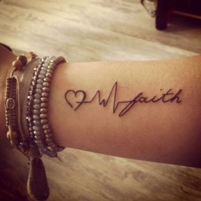 Faith-Text-With-Heart-Beat-And-Heart-Tattoo-On-Wrist