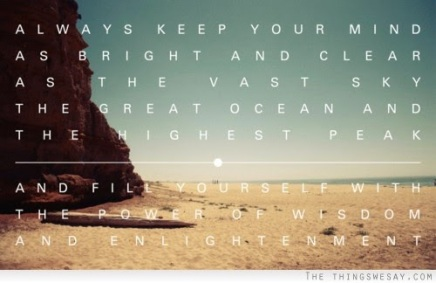 keep your mind bright and clear