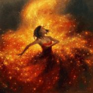 orange-dress-fireflies-art-Favim.com-4172633