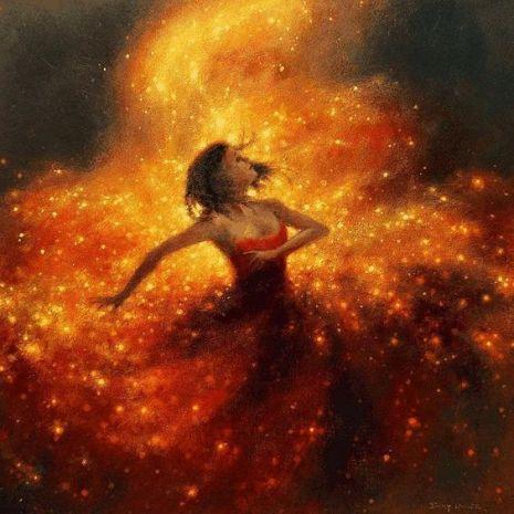 orange-dress-fireflies-art-Favim.com-4172633