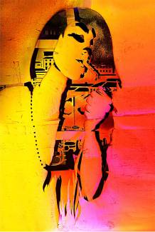 Art-print-painting-attitude-by-artist-Moses-Shahrivar-sthlm-art