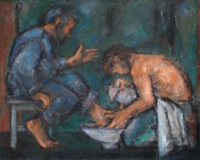Howard, Ghislaine, b.1953; The Washing of the Feet