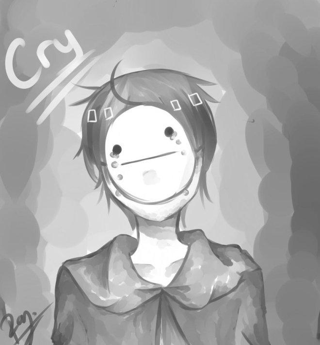 monochrome_art__cry__by_namika02-d63lmgr