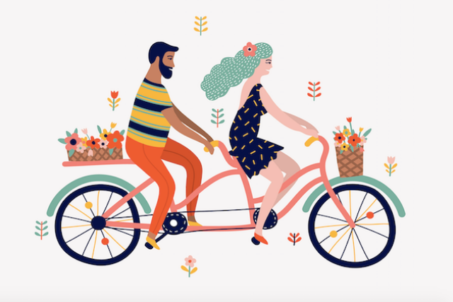 Biking-couple