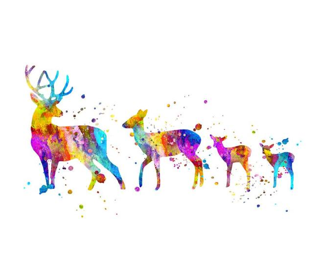 deer-family-art-zuzi-s